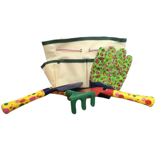 Green burgeon gardening tools set for kids 5 pcs best for Gardening tools for kids