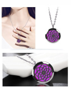 Fragrance Scented Necklace, Essential Oil Diffuser Necklace Perfume Locket for Girls or Women Gift Set Hypo-Allergenic Surgical Grade Stainless Steel 60cm Chain + 8 Felt Pads