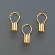 Gold Plated Ez Crimp End Cord Fasteners, Pack Of 80