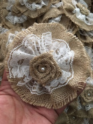 Handmade Burlap Roses with Lace DIY