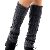 EUBUY Fashion New Women Ladys Winter Knit Crochet Knee High Leg Warmers Boot Socks