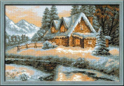 Riolis R1080 Counted Cross Stitch Kit, 38cm by 26cm , Winter View