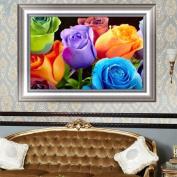 MEXUD-5D DIY Handmade Rose Flower Diamond Painting Cross Stitch Embroidery Kit