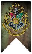 Harry Potter- Hogwarts Crest Banner Fabric Poster 80cm x 130cm