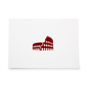 Colosseum Architecture Capital History Rome Style 8728, Rubber Stamp Shape great for Scrapbooking, Crafts, Card Making, Ink Stamping Crafts