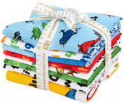 Dr. Seuss One Fish Two Fish 7 Fat Quarter + 1 Panel Bundle Robert Kaufman Fabrics FQ-1126-8