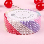 GBSTORE 480pcs Colourful Decorative Round Manmade Pearl Head Corsage Sewing Pins Straight Head Dressmaking Pins