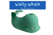 Premium Family Products Bathtub Spout Cover Wally Whale Fun Soft Silicone Protection for Kids & Pets