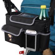 Baby Stroller Organiser Storage Bag, Popsky Dual-use Baby Cup Holders & Accessories Bag High Quality Storage 600D waterproof Bag