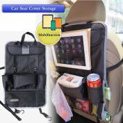 Car Seat Back Organiser, Ideashop Auto Back Car Seat Organiser Holder Multi-Pocket Storage Bag Organiser Holder Travel Hanger Nappy Bag Baby Kids Car Seat Ipad Hanging Bag