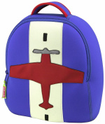 Dabbawalla Bags Preschool & Toddler Aeroplane Backpack, Blue/Red