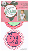 Belly Brags Baby Milestone Stickers, Girl, Circles, Pink, Green, Purple