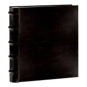 Pioneer Photo Albums 200-Pocket European Bonded Leather Photo Album for 13cm by 18cm Prints, Black