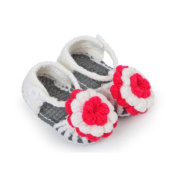 Fullkang Toddler Newborn Baby Flower Knitting Lace Crochet Buckle Sandal Shoes