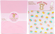 Honey Baby Cupcake Toddler Bed or Crib Sheets 2-Pack