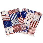 Toddler Pillowcase, 2 Pillowcases Included, 13 x 18 Size, USA Flag Design, 100% Cotton, Soft, Machine Washable