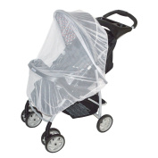 White Mosquito Net for baby Strollers, Carriers, Car Seats, Cradles, Pack'n'Plays, Cribs, Bassinets & Playpens. 110cm x 120cm , High Density Baby Insect Netting