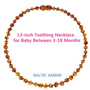 Baltic Amber Teething Necklace Baby Teething Pain Relief Anti-Inflammatory Drooling & Teething Pain Reduce