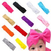 FEITONG 11PC Baby Newborn Toddler Headband Hairband Elastic Bowknot Photography