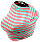 Stretchy Baby & Infant Car Seat Cover. 5-in-1 Multi-Use Canopy, Breastfeeding & Shopping Cart Cover by Bubby's Bubble