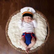 Baby Photography Clothing, Newborn Baby Handmade Crochet Knitted Marines Outfit Photography Props