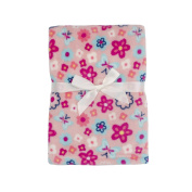 Baby Gear Plush Boa Ultra Soft Baby Girls Blanket 30 x 40 Floral Coral Petals