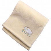 Yellow Baby Bed Blanket - Soft Summer Blanket 30 x 40 Coral Velvet - Baby Shower Gift