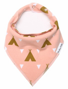 "Baby Bandana Drool Bibs for Drooling and Teething - Single Bib For Girls ""Sweetheart Set"" with A Back Pocket by American Kiddo"