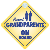 Proud Grandparents On Board Car Sign New Baby / Child Gift / Present / Baby Shower Surprise