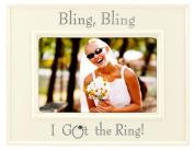 Malden Glazed Ceramic Bling Bling I Got the Ring Picture Frame, 10cm by 15cm