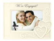"Malden International Designs Glazed Ceramic Wedding ""We're Engaged "" Picture Frame, 10cm by 15cm"