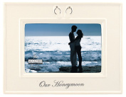 Malden Glazed Ceramic Our Honeymoon Picture Frame, 10cm by 15cm