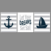 Nautical Nursery Prints for Baby Room Decor & Decorations Perfect for Baby Shower Gift Ideas
