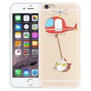 iPhone 6 Plus Case, Axiba Cartoon Pattern Transparent TPU Carring Case Cover for iPhone 6s Plus 14cm