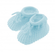 Newborn Baby Girls Boys Soft Tie Up Knit Booties