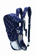 Flying Hedwig Newborn Kid Infant Baby Adjustable 6-in-1 Baby Carrier Soft Structured Ergonomic Sling Front Navy Blue