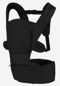 Baby and Child Carrier, Multifunctional Front and Back Carrier, Ergonomic Design, Black by CASCACAVELLE