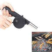LeRysox(TM) UK Outdoor Camping BBQ Fan Air Blower Hand Crank Powered for Picnic Barbecue Fire