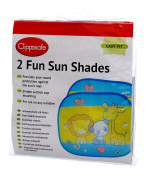 Clippasafe Fun Sun Shades 2 Pack with Colourful Animal Print