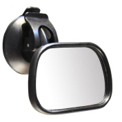Creation® Mini Car Baby Safety Mirror 360-Degree Adjustability Rear View Back Seat Mirror After the Auxiliary Interior Mirror with Sucker