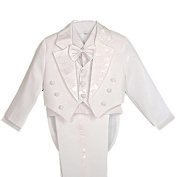 Dressy Daisy Boys' 5 Pcs Set Formal Tuxedo Suit With Tail Pageboy Christening Outfit Size 18-24 Months White Size: 18-24 Months Colour