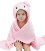 DINGANG® Towelling Robe | Baby Blanket | Baby Hooded Towel | Hooded Towels for Kids | Cosy Animal Bathrobe Poncho | Baby Bath Towels with Hood | Cute Toddler Towel