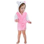 DINGANG® Ultra-Soft Baby Boy & Girl Flannel Infant Animal Hooded Bath Beach Towel Bathrobe Purple,2-6 Years Old