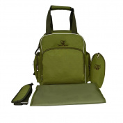 Mr.Stream Baby Backpack Tote Travel Crossbody Shoulder Bag Nappy Nappy Mummy Bag Changing Mat,Insulated Bottle Bag -Army Green