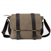 Anself Men's Vintage Canvas Messenger Travelling Briefcase Shoulder Crossbody Bag