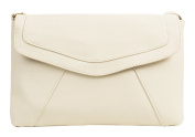Faux Textured Leather Messenger Envelope Bag