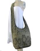 BTP Owl Hippie Boho Sling Cross body Bag Shoulder Messenger Purse Large