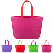 Yalulu 4Pcs Non Woven Shopping Bag Eco-friendly Resuable Handbag Advertising Gift Bag Candy Colour Grocery Bags