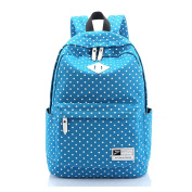 Folowish - Canvas Polka Dot Backpack Shool Bags Rucksack Laptop Bag for Women Girls Teenagers/College/Outdoor/Travelling/Trekking/Hiking