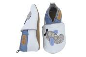 Melton Baby Boys' Leder-Krabbelschuhe Flugzeug Babyshoes and Slippers